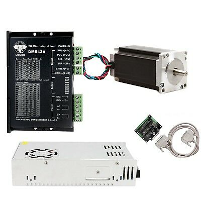1axis Nema 23 Stepper Motor 425oz-in 23hs9430 Dm542a Cnc Cut Controller Kit