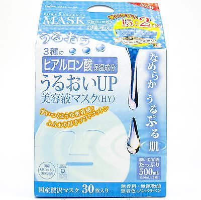 Japan Gals Sheet Mask Hyaluronic Acid 30 sheets 500mL Paraben-Free