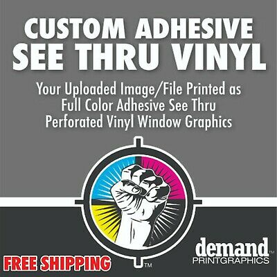 Full Color See Thru Window Vinyl Perforated Window Film - Free Shipping (See Thru Vinyl)