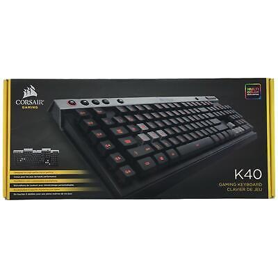 Corsair K40 Gaming Keyboard, 6 Programmable G Keys, Backlit