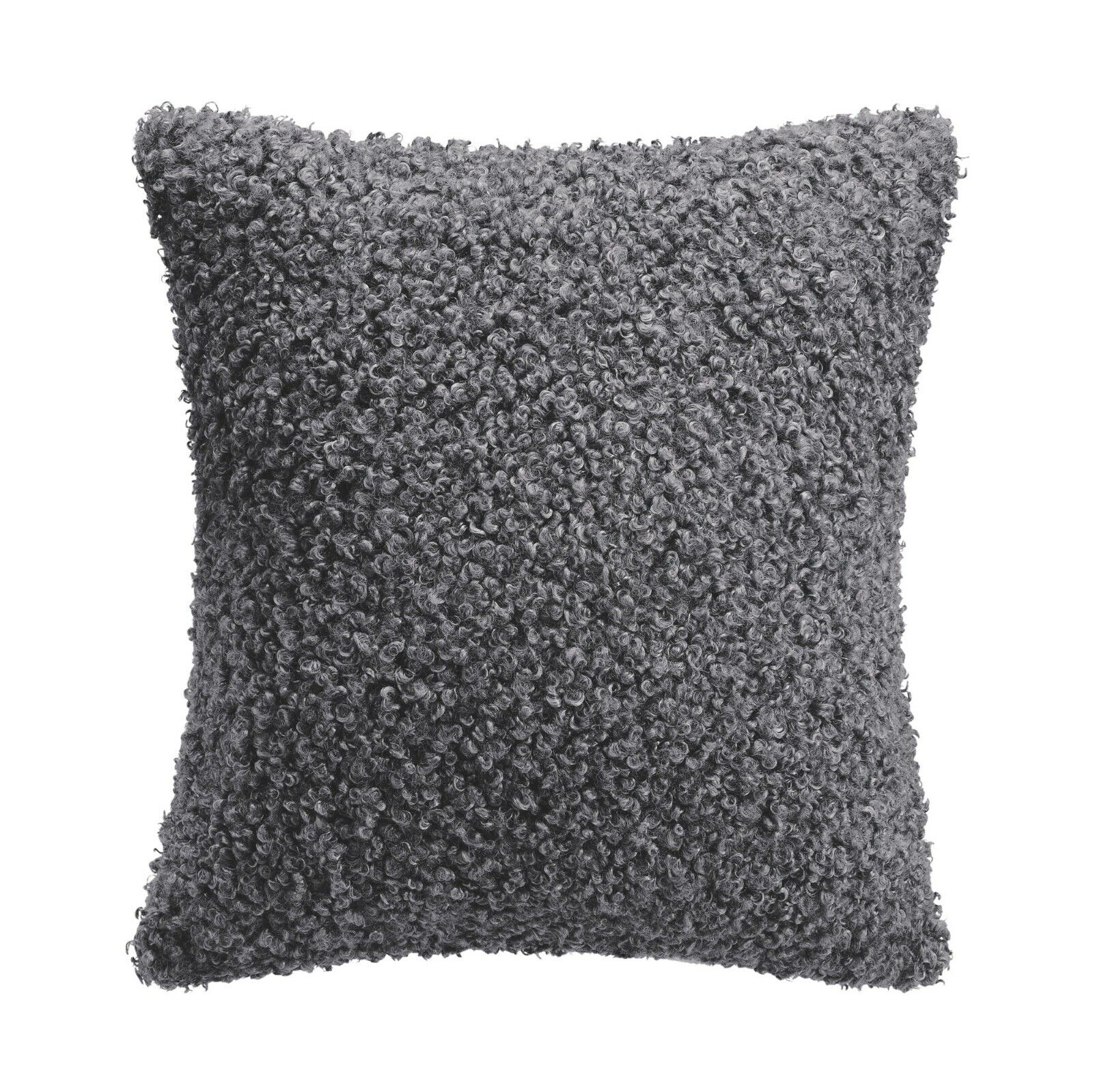 Home Curly Faux Fur Throw Pillow Home & Garden
