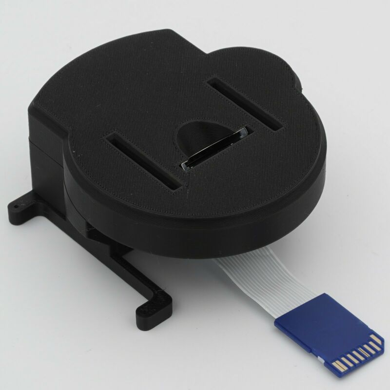 3D Printed Tray Mount & SD Extension Cable for Nintendo GameCube GC Loader Mod