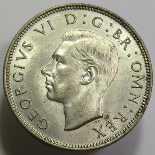 1944 George VI KM #855 Silver 2 Two Shillings UK Great Britain World Coin #16682
