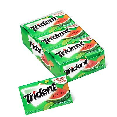 Trident Watermelon Twist Sugar Free Gum 12 Packs of 14 Pieces (168 Total Pieces)