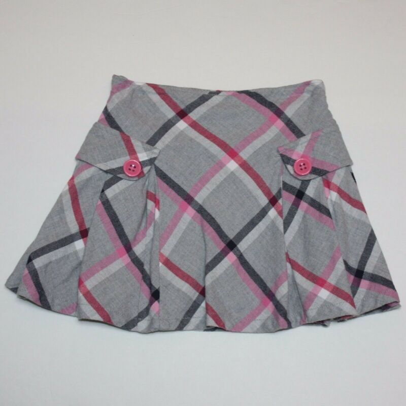 Gymboree Brightest in Class Plaid Pleated Skort Skirt size 5