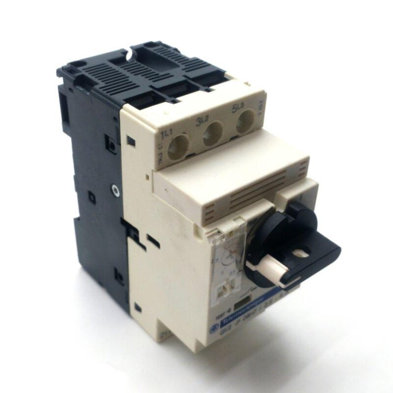 Telemecanique GV2-P08H7 Motor Starter/Circuit Breaker, 2.5-4A, 3-Pole, 480VAC