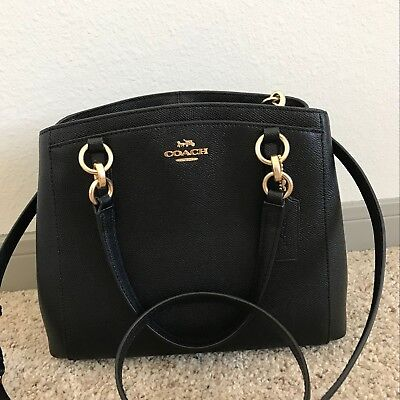 NWT COACH F57847 Crossgrain Leather Minetta Handbag/Crossbody /Satchel Black