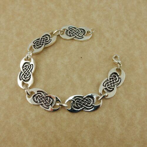 Stainless steel Celtic knot link bracelet, Irish