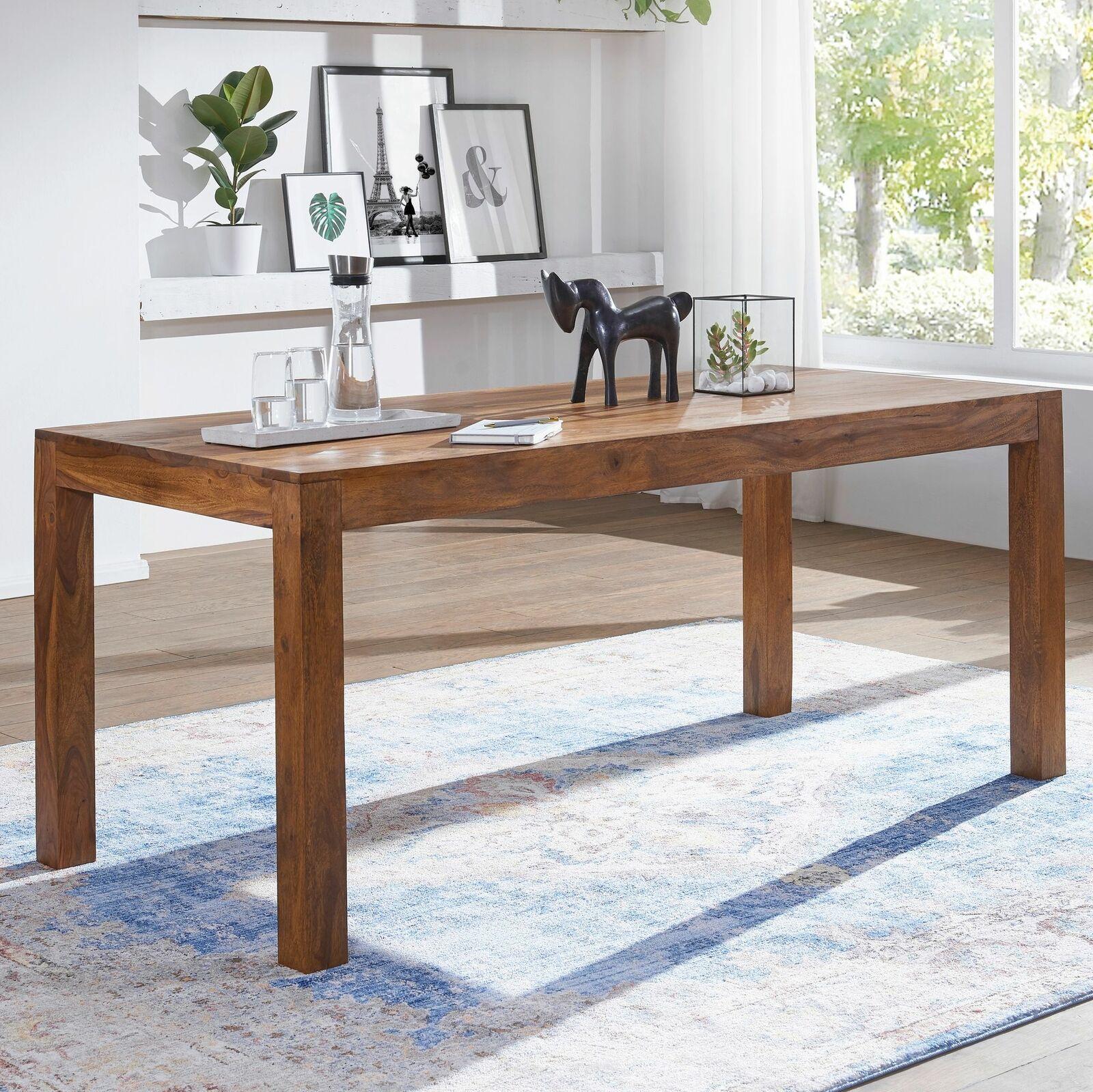 FineBuy Esstisch 120cm Massivholz Sheesham Esszimmer-Tisch Küchentisch Landhaus 21