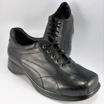 Kumfs Casual Oxfords Womens Size 6.5M (EU 37) Black Leather Lace-Up Shoe PU (Pu Womens Oxfords)