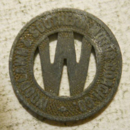 Woodlawn & Southern Motor Coach (Aliquippa, Pennsylvania) transit token - PA10D