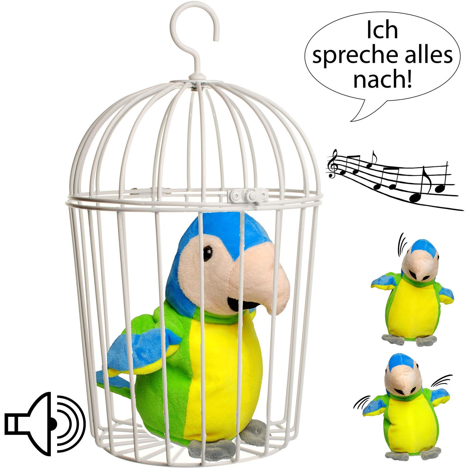 """2 tlg Set /_ Vogelkäfig Papagei // Vogel // Ara /"""" Ich sprec NACH sprechender"""