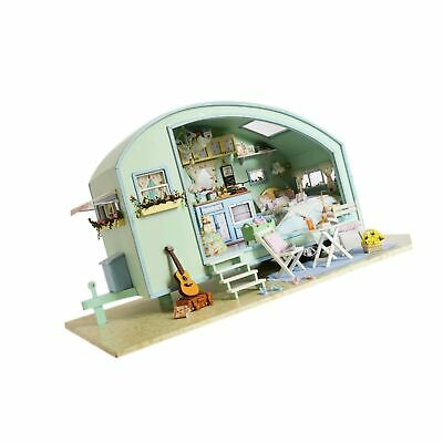 Ogrmar Wooden Dollhouse Miniatures DIY House Kit With Led Light-Time Travel - $95.99