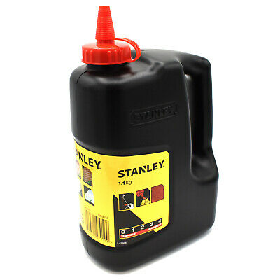 Stanley Red Chalk Refill 1.1kg For Chalk Reel Line Masonry Powder Sta 147919