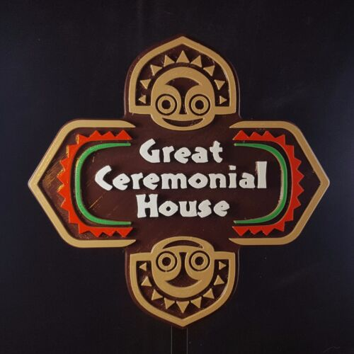 Polynesian Themed Sign / Plaque - Great Ceremonial House ( Disney Resort Inspire