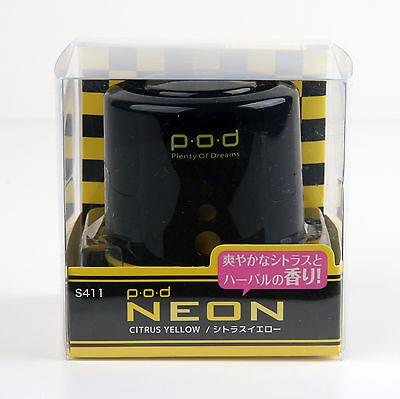 "Seiwa Pod Air Freshener ""Plenty of Dreams"" Black & Yellow/Citrus Yellow S411"