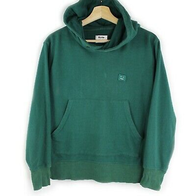 Acne Studios Niagara Face PSS17 Sweater Hoodie Green Size Small