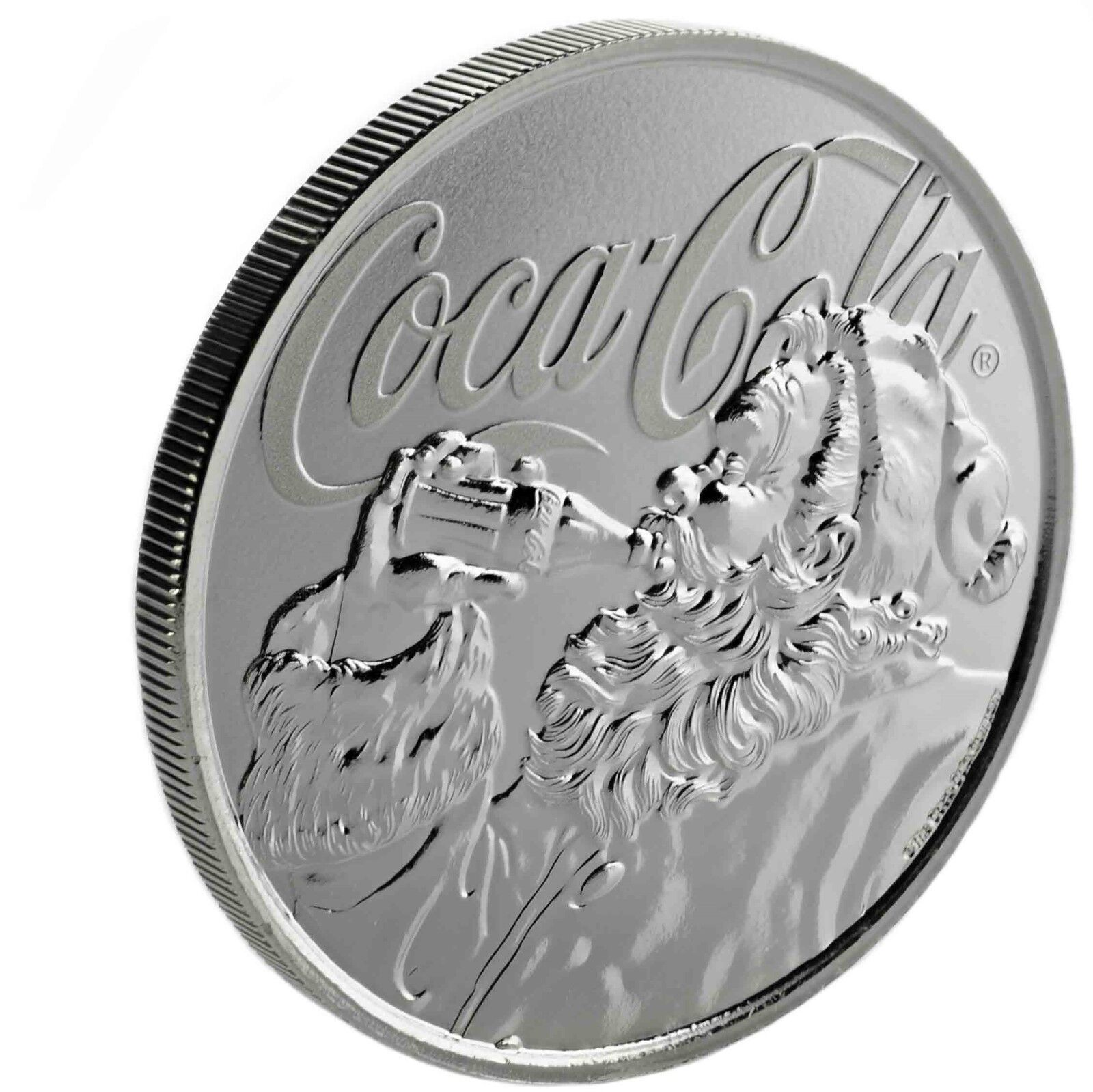 5 Limited Mintage Collectible -1oz .999 Silver Coca-Cola® Holiday Coin 2019