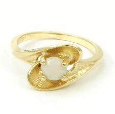 BIRKS 14k Yellow Gold Opal Ring (estate, 2.7g, October Birthstone) #3925