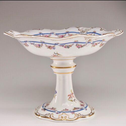 Antique Davenport Longport Staffordshire Porcelain Compote