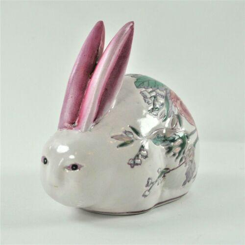 H.F.P. Macau Collectors Hand Painted Porcelain Bunny Rabbit Figurine