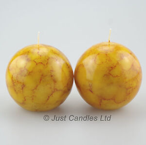 Ball Candles Marble Effect Pack of Two