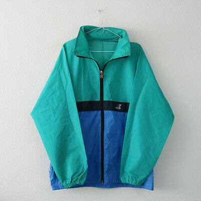 Vintage 90's Teal & Blue Colour Block K-Way Windbreaker Jacket | Large (28)