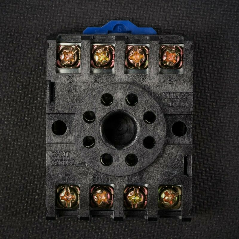 NEW 8 Pin Octal Base Socket For Plug In Relay DIN & Panel Mount 27E122 27E891