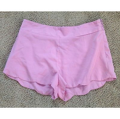 ENERGIE pink flower style seam pink spring summer shorts New Womens size Medium