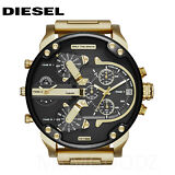 NEW Diesel Original DZ7333 MR DADDY 2.0 Gold Multiple Time Chronograph Watch