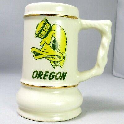 University of Oregon Ducks Football Souvenir Mini Beer Mug 6oz Vtg Shot Glass Shot Oregon Ducks