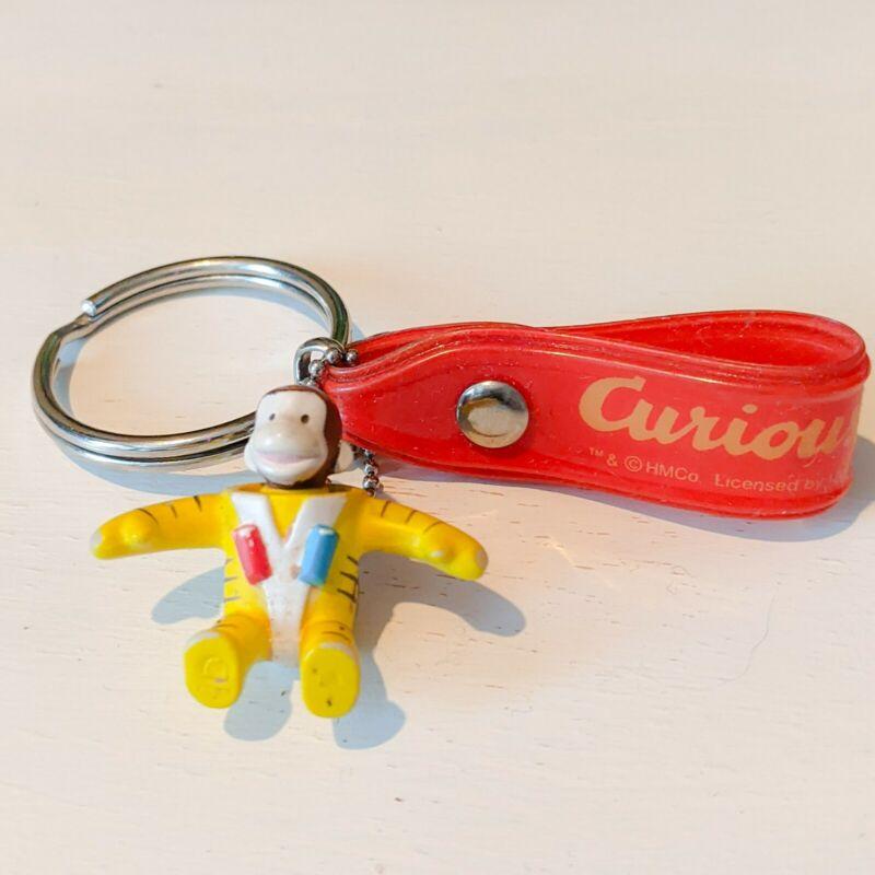 Vintage Unused Adorable Curious George Astronaut Keychain