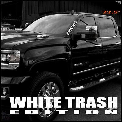 Left Side Banner - White Trash Vinyl Decal Sticker Lettering Side Banner Funny Redneck Hillbilly