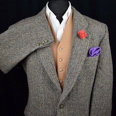 Harris Tweed Tailored Country Herringbone Blazer Jacket 44R #129 SUPER ITEM