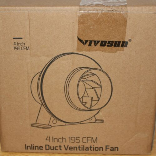 Inline Duct Ventilation Fan Vent Blower for Grow Tent 4 Inch 195 CFM