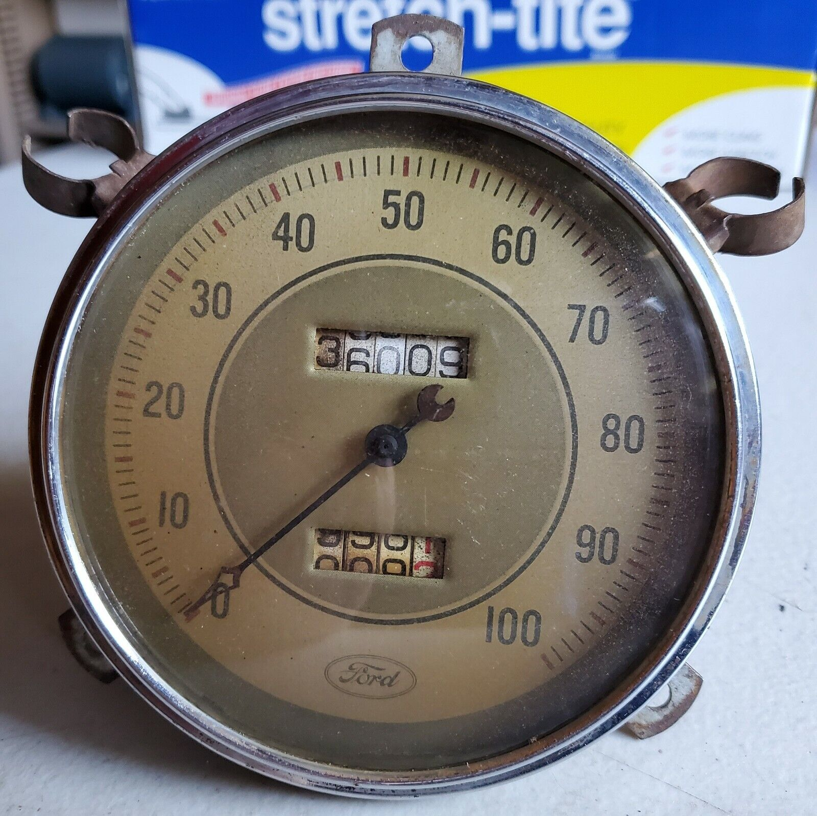 1935 1936 Ford 0-100 Mph Speedometer Curved Glass Cover