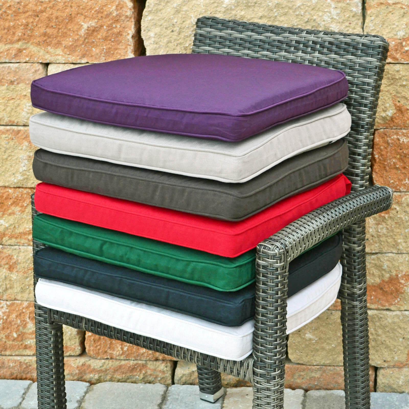 Luxus Sitzkissen 7 Farben zur Wahl Bezug waschbar Sessel Kissen Stuhlkissen NEU