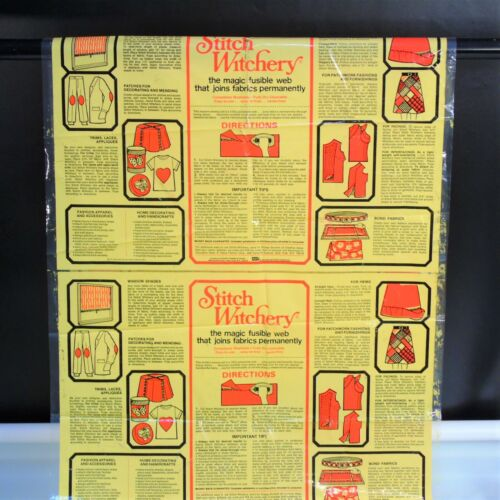 1972 Advertising Stitch Witchery Cellophane Wrapper