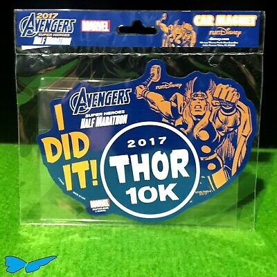 2017 Run Disney Car Magnet Avengers super Heroes Half marathon Thor 10K MR1-15