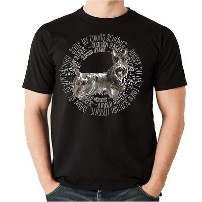 Scottish Terrier T-shirt (T-Shirt CIRCLE SCOTTISH TERRIER Watercolor by Siviwonder Unisex)
