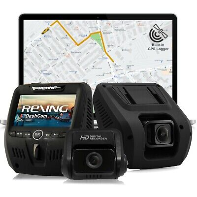 Rexing V1LG Car Dash Cam Dual FHD 1080p 170° Wide Angle with HD Rear Camera, WDR