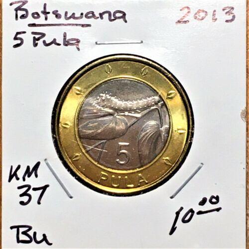 2013 Botswana 5 Pula, KM# 37, BU (32)