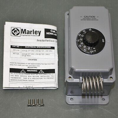 Marley Qmark Berko Line Voltage Mechanical Thermostat Wt12a 120v To 277v Spdt