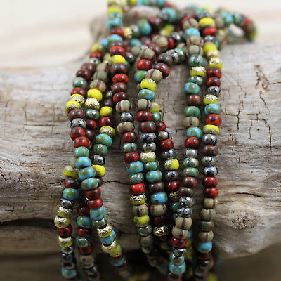 - Exclusive! 8/0 Aged Striped Wild Savannah Picasso Mega Mix Czech seed beads 20gm