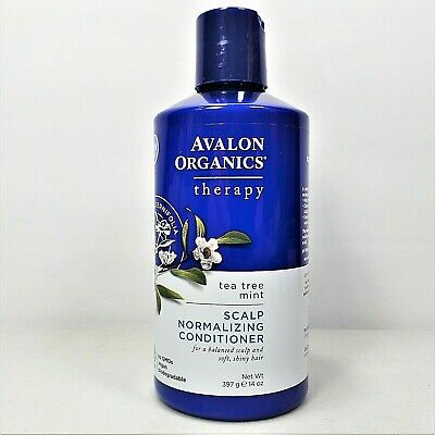 Avalon Organics Scalp Normalizing Therapy Conditioner With Tea Tree & Mint 14 Oz