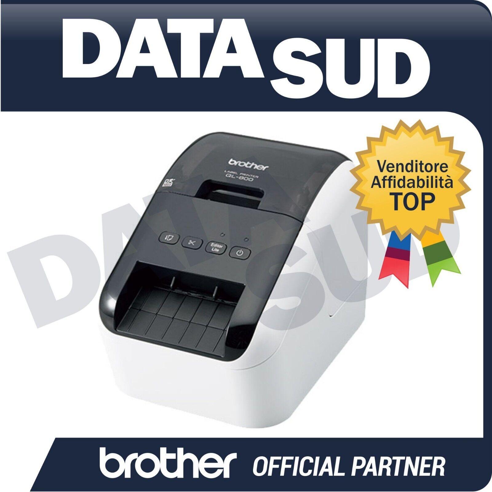 BROTHER STAMPANTE DI ETICHETTE ELETTRONICA QL-800 USB-STAMPA IN NERO E IN ROSSO