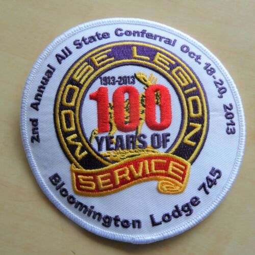 "2013 Illinois Moose Legion 2nd Annual All-State Conferral 4-1/2"" Vest Patch NEW"