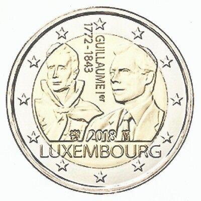 LUXEMBURG II 2018- 2 euro- Guillaume I 175e jaar overlijden/175ème année décès