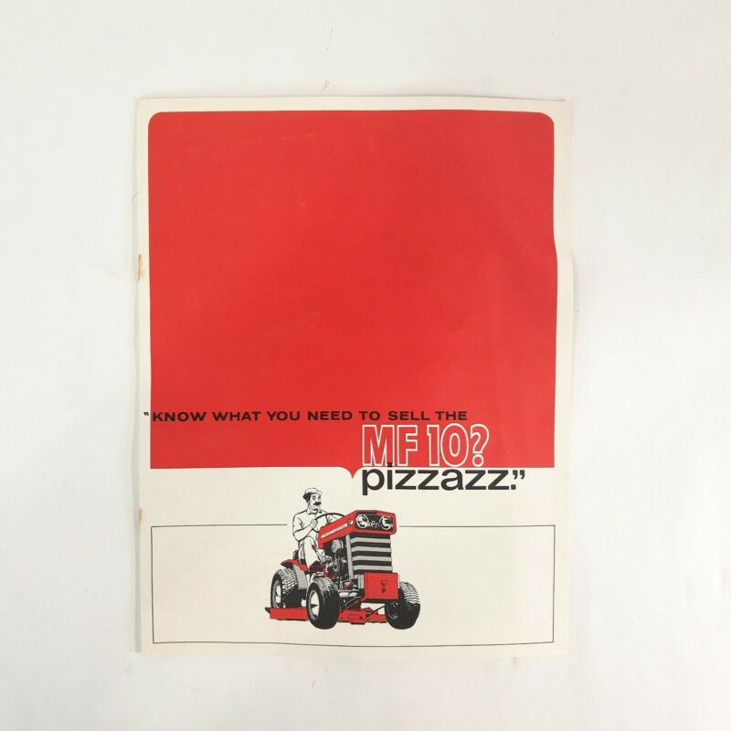 VINTAGE c. 1960s MASSEY FERGUSON MF10 TRACTOR SALESMAN DISPLAY BOOKLET AD BOOK