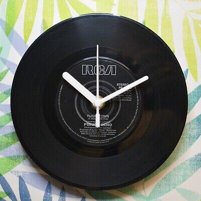 """Pseudo Echo """"Funkytown"""" Retro Chic 7"""" Vinyl Record Wall Clock"""